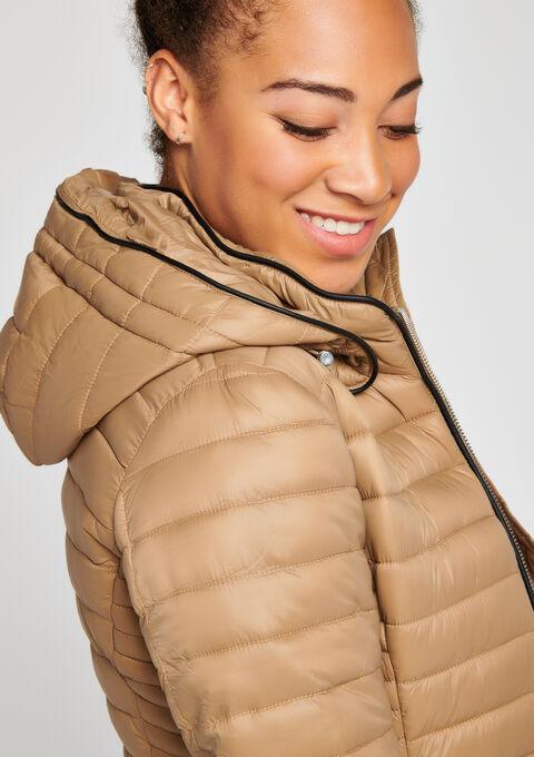 Gewatteerde jas met kap - SANDY - 900075