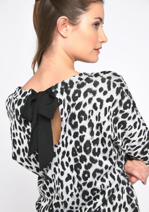 T-shirt luipard print - GREY MILD MEL. - 02300483_3504