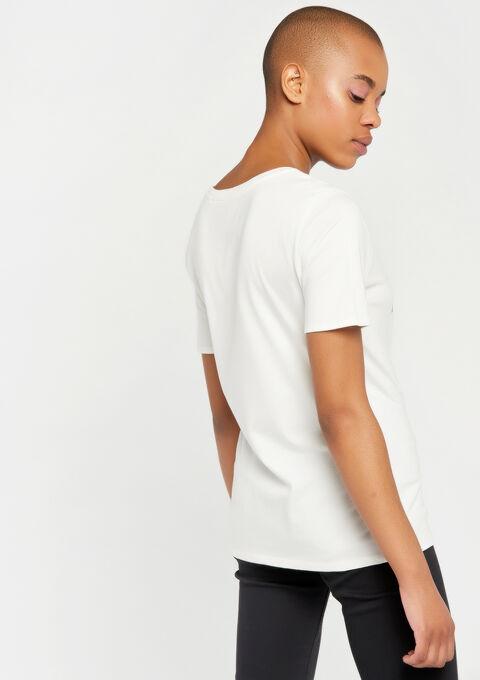 T-shirt met slogan - WHITE ALYSSUM - 02300278_2502