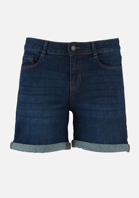 Jeans shorts denim - DARK BLUE - 22000180_501