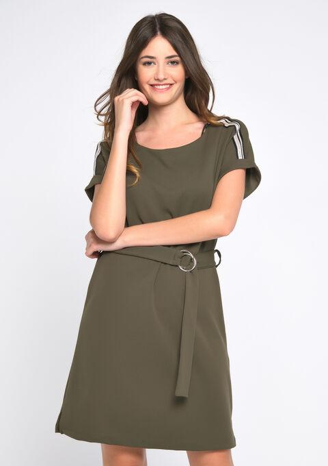 Mini jurk - KHAKI DUG - 08101573_4202