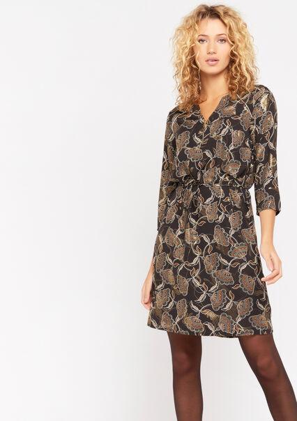 Robe imprimé irisé - BLACK - 08101603_1119