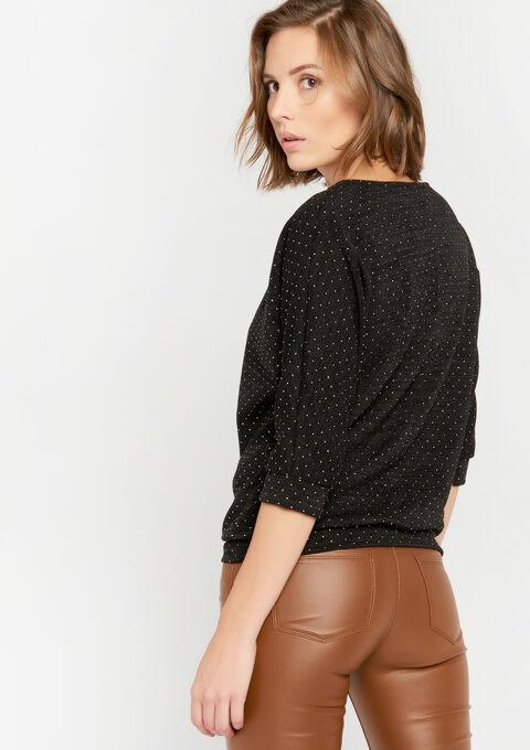Sweater met juweel - BLACK - 03001420_1119