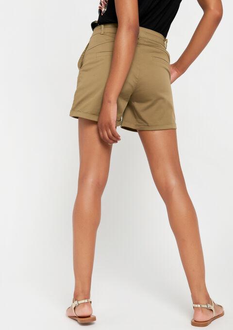 Chino shorts - KHAKI DUSKY - 06100216_4402