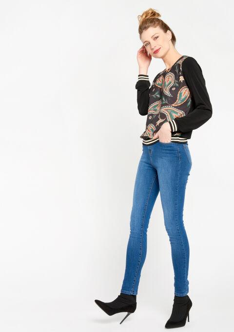 Sweater met paisley print - BLACK - 03001320_1119