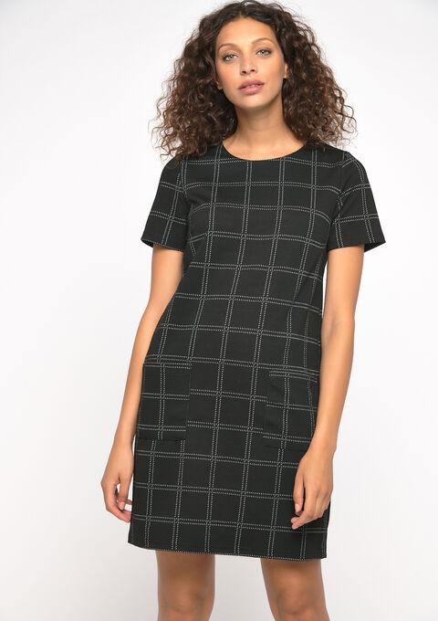 Robe mini carreaux - BLACK - 08100715_1119