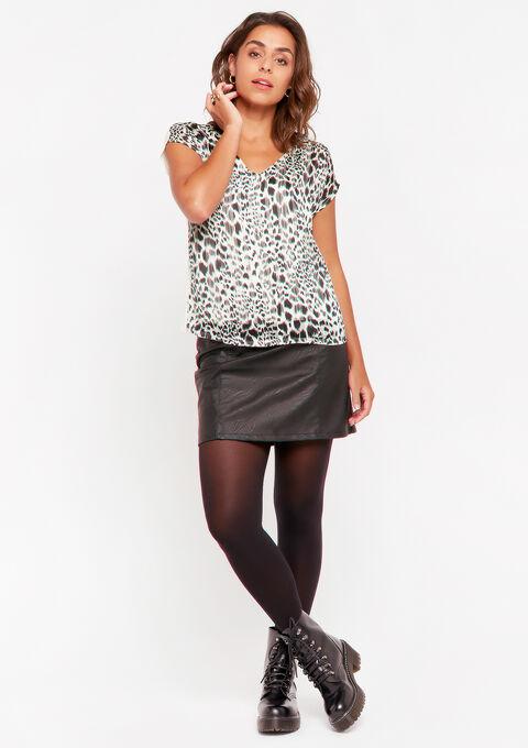 T-shirt imprimé léopard - OFFWHITE - 02300644_1001