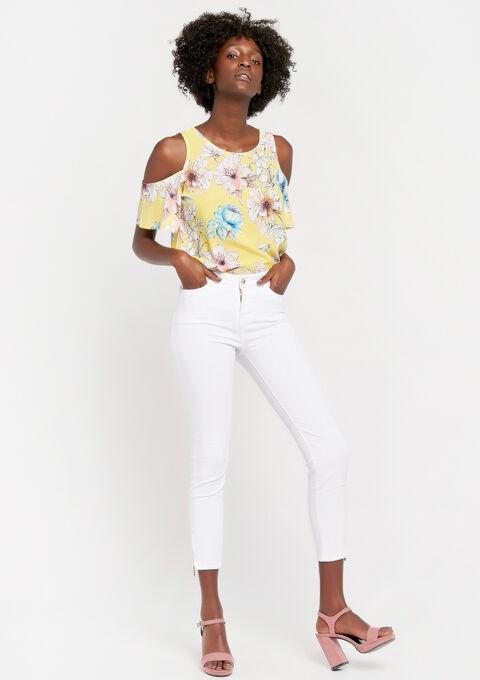 Slim fit broek met enkel-rits - OPTICAL WHITE - 06003788_1019