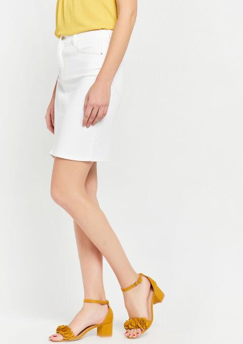 Jeansrok met strass - WHITE ALYSSUM - 07100184_2502