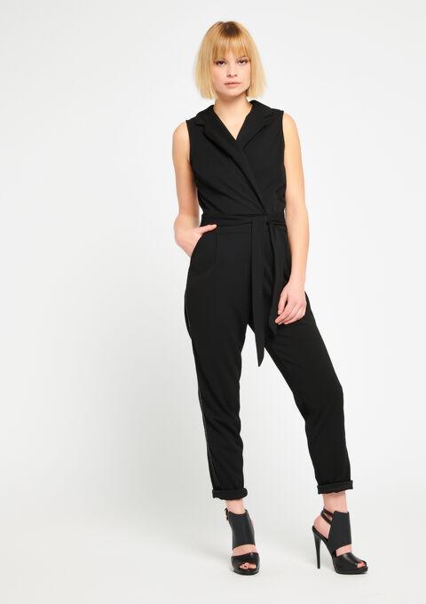 Jumpsuit, stijl smoking - BLACK - 06003841_1119