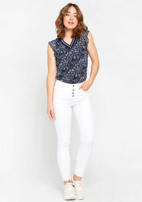 T-shirt met bloemenprint - NAVY HEAVEN - 02300223_2711