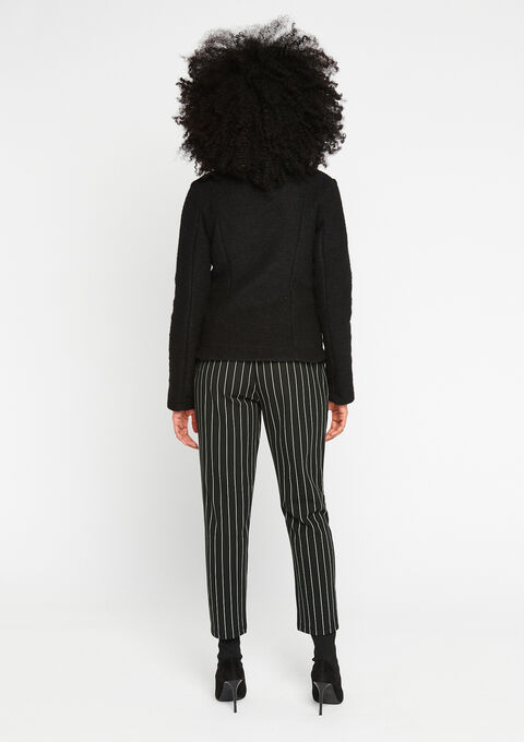 Jasje in perfecto stijl, wol - BLACK - 931704