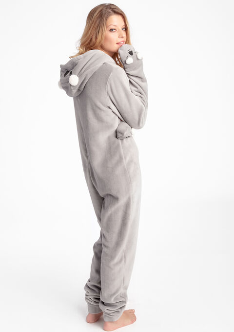 Pyjama onesie koala stijl - LIGHT GREY MEL - 15000399_1061