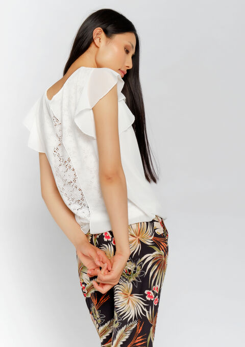 Blouse mouwen met ruches - OFFWHITE - 05700595_1001