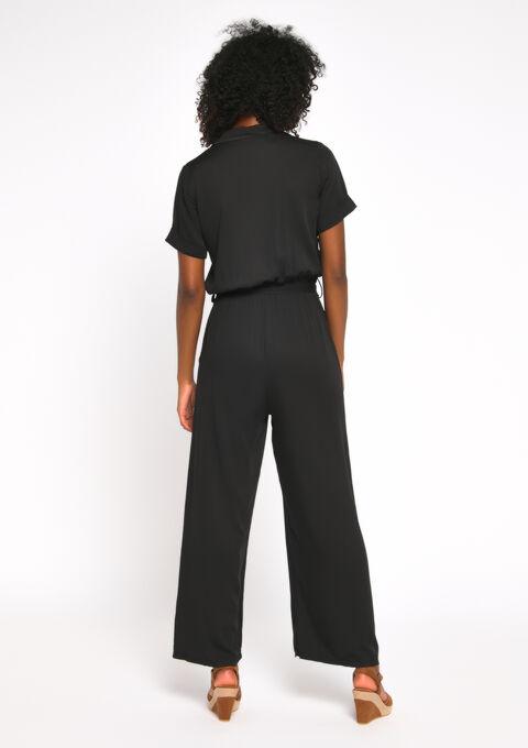Jumpsuit korte mouwen - BLACK - 963992