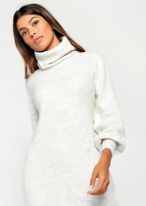 Sweaterjurk met rolkraag - GREY RAY MEL - 08006029 3603 27848cf45e11