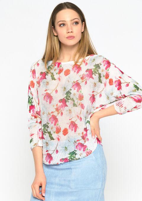Trui met bloemenprint - OFFWHITE - 04005153_1001