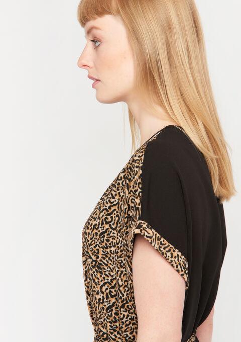 Jurk met luipaard print - RED CINNABAR - 08101609_5305