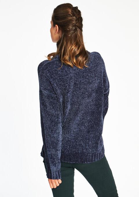 Soft sweater in chenille yarn - LolaLiza