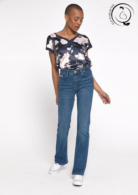 Eco-wash: Bootcut jeans - DARK BLUE - 22000198_501