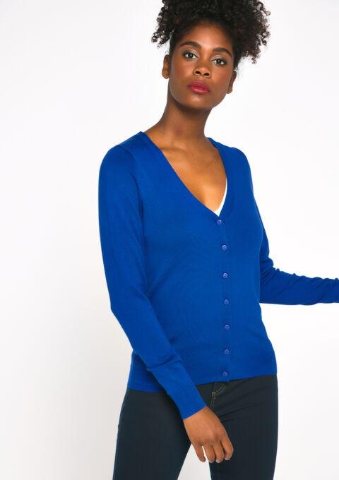 Basic cardigan - BLUE TATE - 04100624_2914