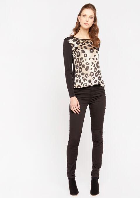 T-shirt met luipaardprint - BLACK - 02300568_1119