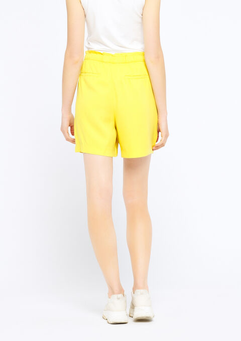 Short in tencel - LEMON CURRY - 06100165_1237