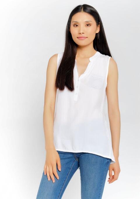 Blouse mouwloos - WHITE ALYSSUM - 05700563_2502