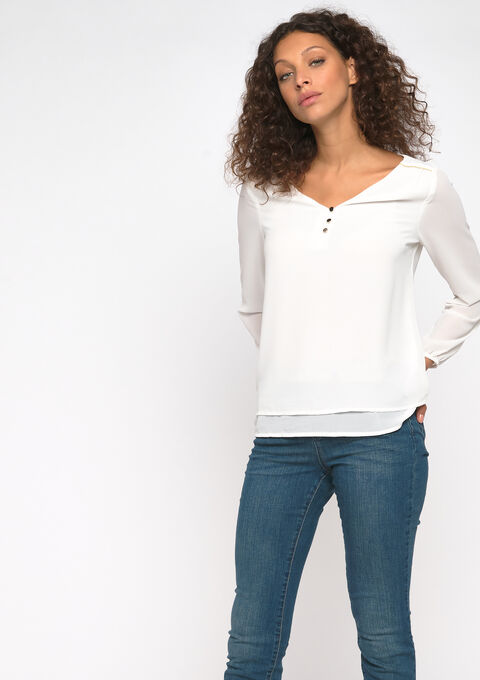 Blouse manches longues - OFFWHITE - 05700368_1001