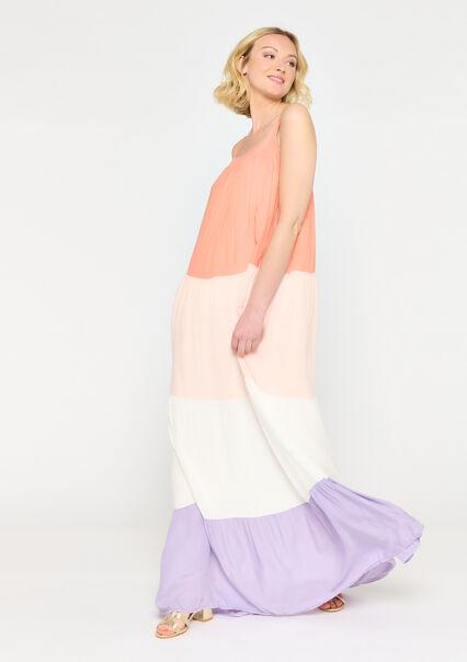 Kleurrijke maxi jurk - MULTICOLOR - 08601370_1000