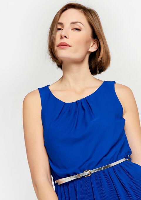 Plissé-jurk - BLUE ELECTRICAL - 930451
