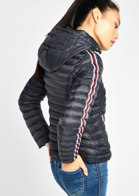 Gewatteerde jas met kap - BLACK - 23000006_1119