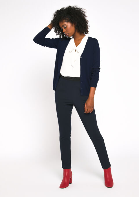 Basic cardigan - PEACOAT BLUE - 04100624_1655