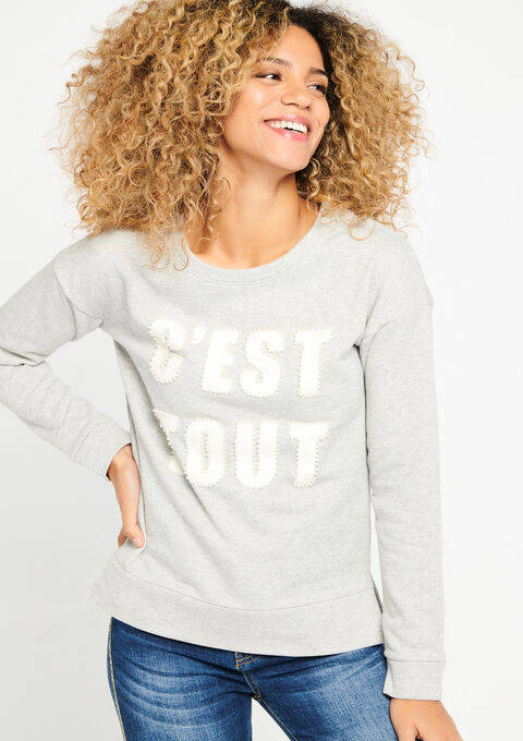 Sweater fantasie - MED GREY MEL - 03001245_1063