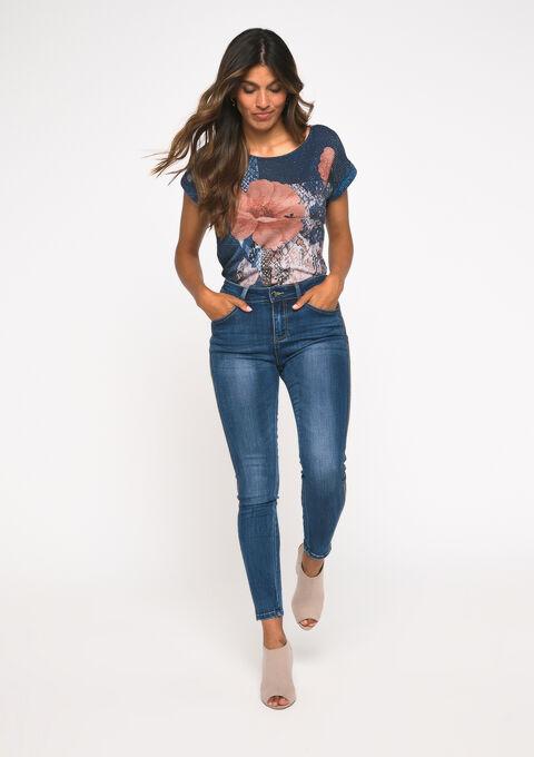 T-shirt korte mouwen - PEACOAT BLUE - 02300485_1655