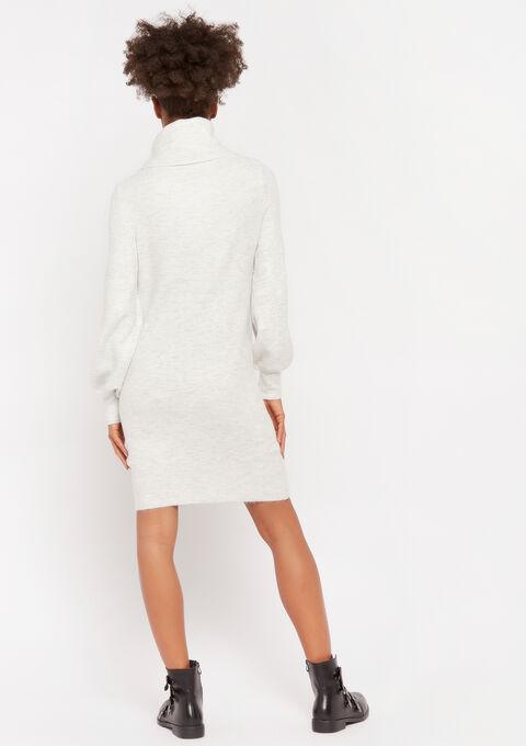 Robe pull col roulé - GREY MIST MEL - 08100722_3609