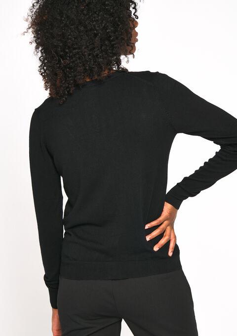 Basic cardigan - BLACK - 04100624_1119