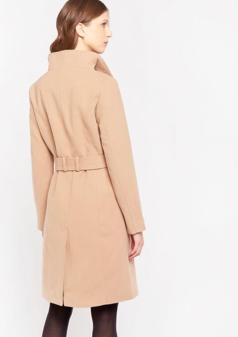 Lange mantel - BEIGE BROWN - 23000141_4014