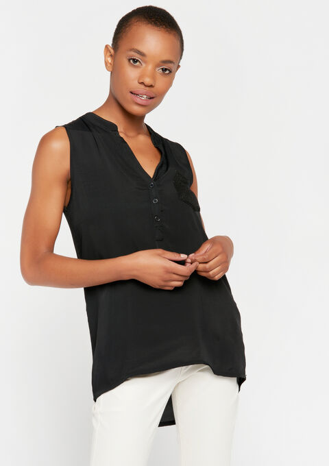 Blouse mouwloos - BLACK BEAUTY - 961469