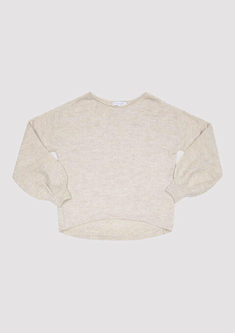 Cosy trui met boothals - EGRET WHITE - 04004606_2500