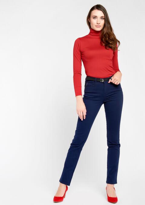 Basic broek met normale taille - NAVY PAPER - 06003550_2708