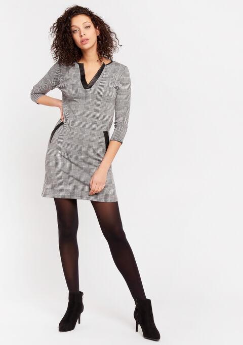 Geruite rechte jurk - GREY CLOUDY MEL - 08102123_2036