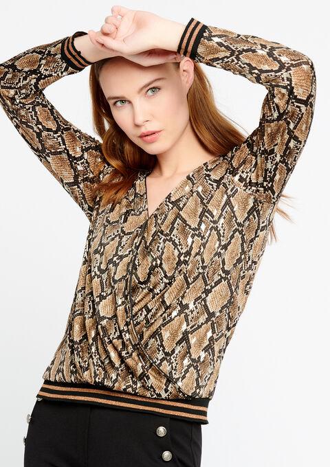 T-shirt met lange mouwen en print - CAMEL TRUSH - 02400046_3808