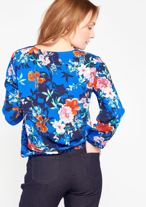Cach cœur hemd bloemenprint - BLUE ELECTRICAL - 05700310_2805