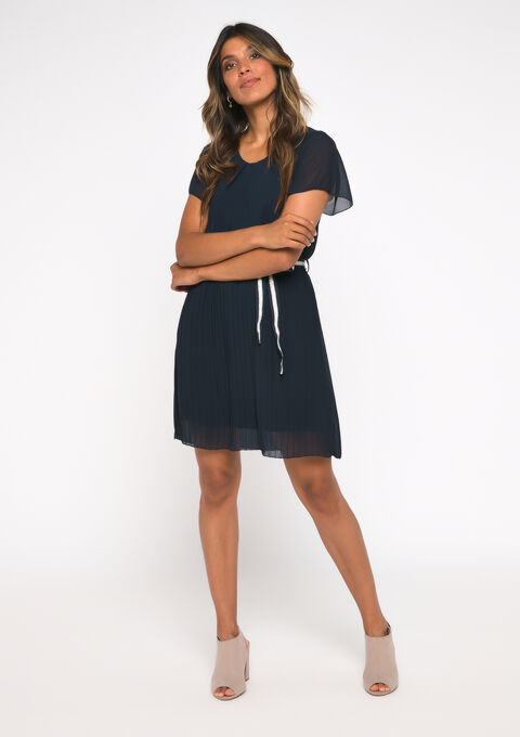 Robe droite voile - NAVY BLUE - 08101565_1651