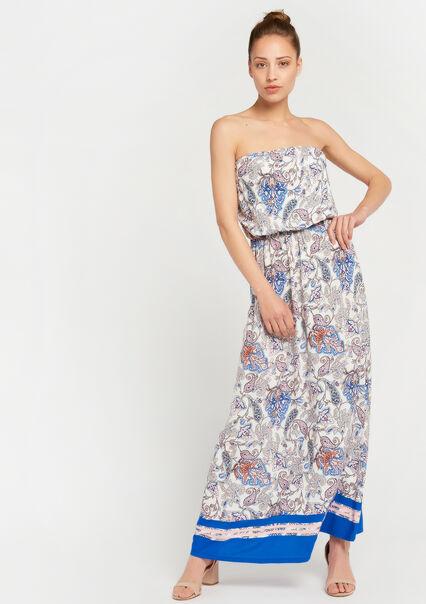 2eb7873c337d44 Bustier-jurk met print - WHITE ALYSSUM - 08600106 2502 ...