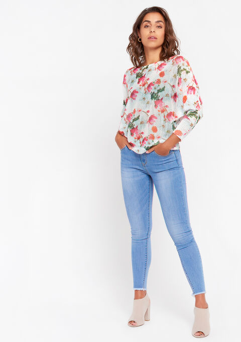 Pull imprimé floral - OFFWHITE - 04005153_1001