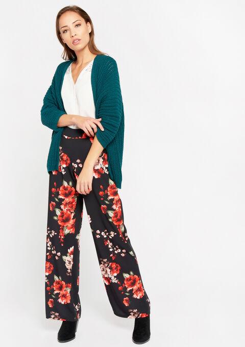 Cardigan met kimono-mouwen - BLUE CANARD - 04100662_3204