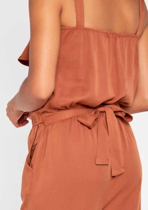 Jumpsuit in tencel - TERRACOTTA - 911959