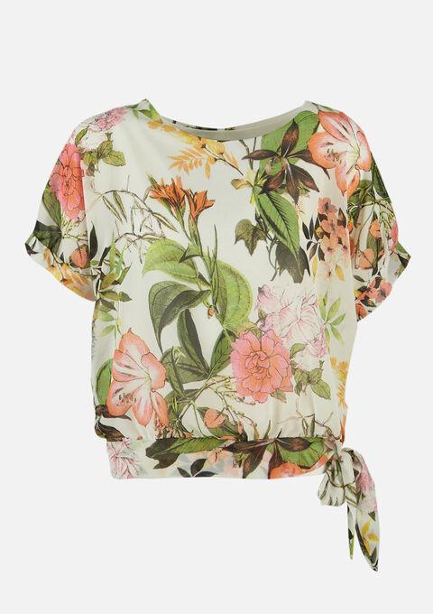 Blouse met bloemenprint - NATURAL WHITE - 05701412_2510